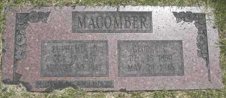 MACOMBER, EUPHEMIA O. - Washington County, Oklahoma   EUPHEMIA O. MACOMBER - Oklahoma Gravestone Photos