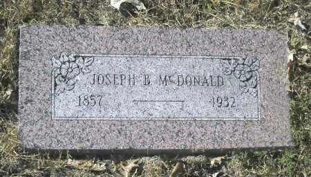 MC DONALD, JOSEPH B - Washington County, Oklahoma | JOSEPH B MC DONALD - Oklahoma Gravestone Photos