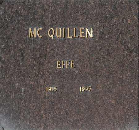 MC QUILLEN, EFFE - Washington County, Oklahoma   EFFE MC QUILLEN - Oklahoma Gravestone Photos