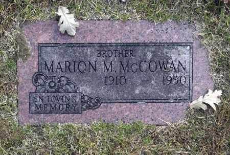 MCCOWAN, MARION M - Washington County, Oklahoma | MARION M MCCOWAN - Oklahoma Gravestone Photos