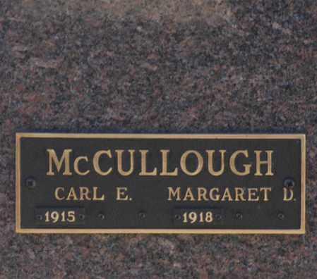 MCCULLOUGH, CARL E - Washington County, Oklahoma   CARL E MCCULLOUGH - Oklahoma Gravestone Photos