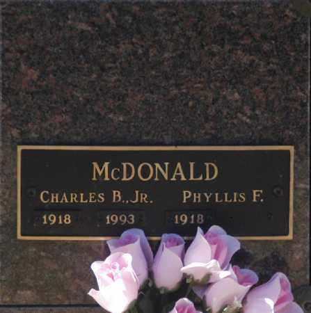 MCDONALD, PHYLLIS F - Washington County, Oklahoma   PHYLLIS F MCDONALD - Oklahoma Gravestone Photos