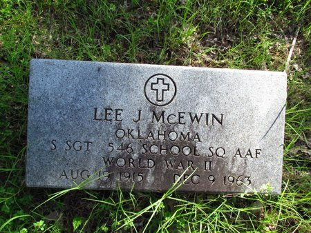 MCEWIN, LEE - Washington County, Oklahoma | LEE MCEWIN - Oklahoma Gravestone Photos
