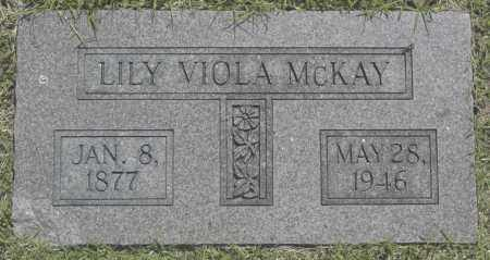 MCKAY, LILY VIOLA - Washington County, Oklahoma   LILY VIOLA MCKAY - Oklahoma Gravestone Photos