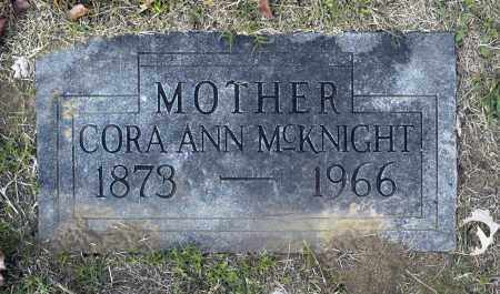 MCKNIGHT, CORA ANN - Washington County, Oklahoma | CORA ANN MCKNIGHT - Oklahoma Gravestone Photos