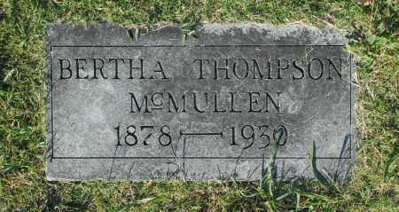 THOMPSON MCMULLEN, BERTHA - Washington County, Oklahoma   BERTHA THOMPSON MCMULLEN - Oklahoma Gravestone Photos