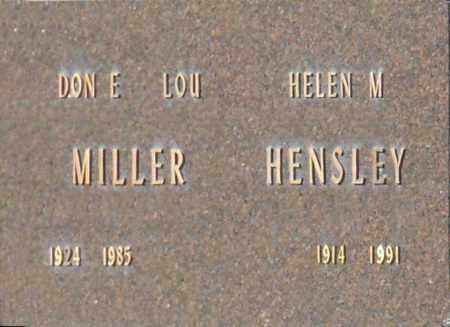 HENSLEY, HELEN M - Washington County, Oklahoma | HELEN M HENSLEY - Oklahoma Gravestone Photos