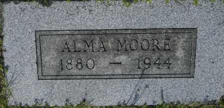 MOORE, ALMA - Washington County, Oklahoma   ALMA MOORE - Oklahoma Gravestone Photos