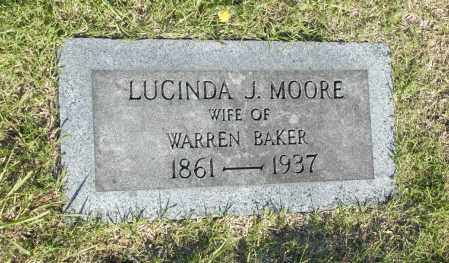 MOORE, LUCINDA J. - Washington County, Oklahoma   LUCINDA J. MOORE - Oklahoma Gravestone Photos