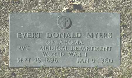 MYERS, EVERT DONALD - Washington County, Oklahoma | EVERT DONALD MYERS - Oklahoma Gravestone Photos