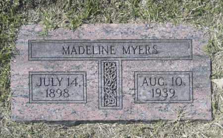 MYERS, MADELINE - Washington County, Oklahoma   MADELINE MYERS - Oklahoma Gravestone Photos