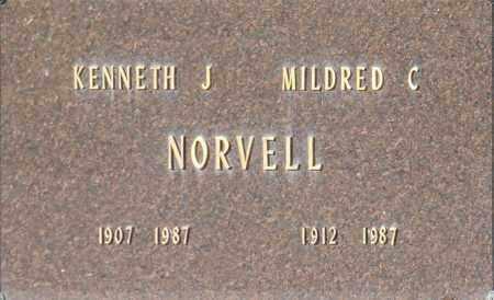 NORVELL, MILDRED C - Washington County, Oklahoma | MILDRED C NORVELL - Oklahoma Gravestone Photos