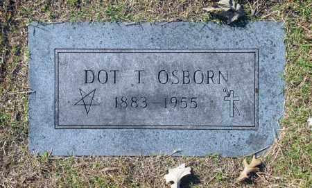 OSBORN, DOT T - Washington County, Oklahoma   DOT T OSBORN - Oklahoma Gravestone Photos