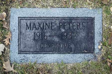 PETERS, MAXINE - Washington County, Oklahoma | MAXINE PETERS - Oklahoma Gravestone Photos