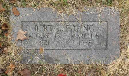 POLING, BERT L - Washington County, Oklahoma   BERT L POLING - Oklahoma Gravestone Photos
