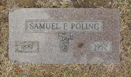 POLING, SAMUEL E - Washington County, Oklahoma | SAMUEL E POLING - Oklahoma Gravestone Photos