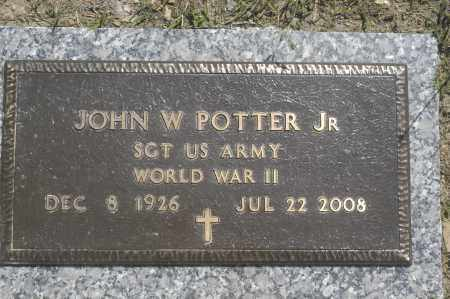 POTTER, JOHN W., JR. - Washington County, Oklahoma   JOHN W., JR. POTTER - Oklahoma Gravestone Photos