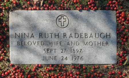 RADEBAUGH, NINA RUTH - Washington County, Oklahoma | NINA RUTH RADEBAUGH - Oklahoma Gravestone Photos