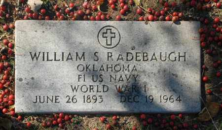 RADEBAUGH (VETERAN WWI), WILLIAM S - Washington County, Oklahoma | WILLIAM S RADEBAUGH (VETERAN WWI) - Oklahoma Gravestone Photos