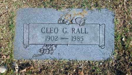 RALL, CLEO G - Washington County, Oklahoma   CLEO G RALL - Oklahoma Gravestone Photos