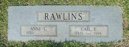 RAWLINS, ANNE C. - Washington County, Oklahoma | ANNE C. RAWLINS - Oklahoma Gravestone Photos