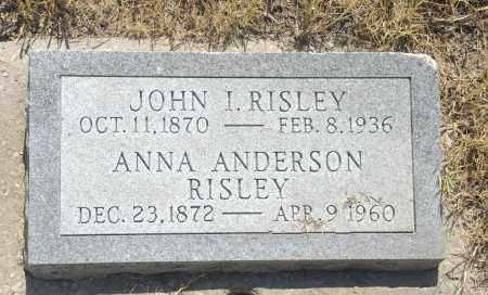 ANDERSON RISLEY, ANNA - Washington County, Oklahoma | ANNA ANDERSON RISLEY - Oklahoma Gravestone Photos
