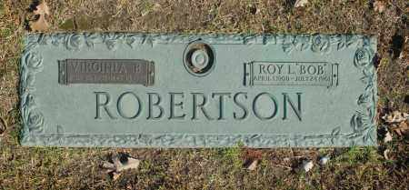 "ROBERTSON, ROY L ""BOB"" - Washington County, Oklahoma   ROY L ""BOB"" ROBERTSON - Oklahoma Gravestone Photos"