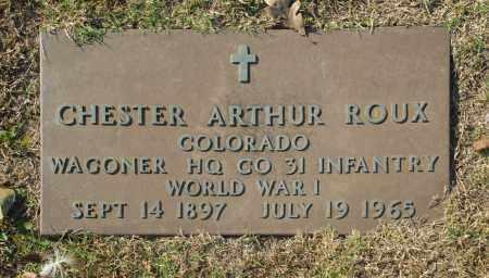 ROUX (VETERAN WWI), CHESTER ARTHUR - Washington County, Oklahoma   CHESTER ARTHUR ROUX (VETERAN WWI) - Oklahoma Gravestone Photos