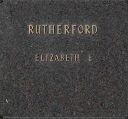 RUTHERFORD, ELIZABETH L - Washington County, Oklahoma | ELIZABETH L RUTHERFORD - Oklahoma Gravestone Photos