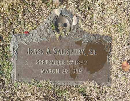 SALISBURY, JESSE A, SR - Washington County, Oklahoma   JESSE A, SR SALISBURY - Oklahoma Gravestone Photos