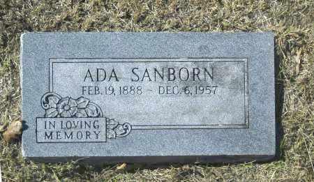 SANBORN, ADA - Washington County, Oklahoma   ADA SANBORN - Oklahoma Gravestone Photos