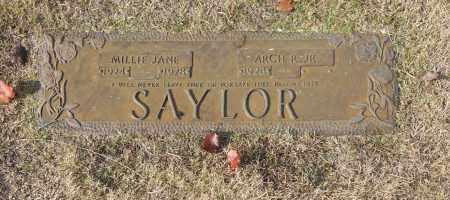 SAYLOR, MILLIE JANE - Washington County, Oklahoma | MILLIE JANE SAYLOR - Oklahoma Gravestone Photos