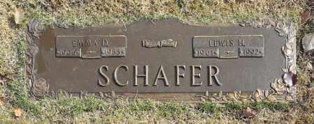 SCHAFER, EMMA D - Washington County, Oklahoma   EMMA D SCHAFER - Oklahoma Gravestone Photos