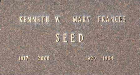 SEED, KENNETH W - Washington County, Oklahoma | KENNETH W SEED - Oklahoma Gravestone Photos