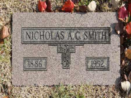 SMITH, NICHOLAS A C - Washington County, Oklahoma | NICHOLAS A C SMITH - Oklahoma Gravestone Photos