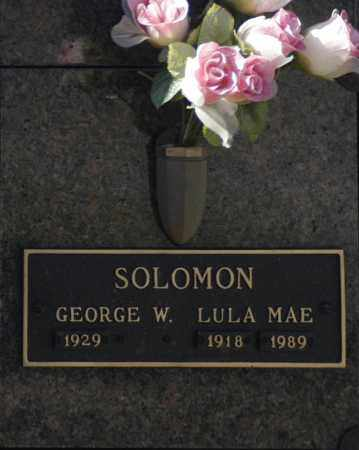 SOLOMON, LULA MAE - Washington County, Oklahoma | LULA MAE SOLOMON - Oklahoma Gravestone Photos
