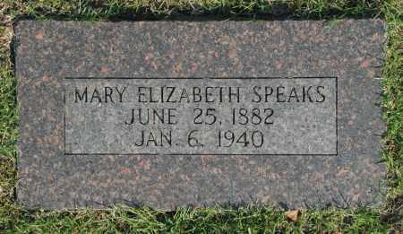 SPEAKS, MARY ELIZABETH - Washington County, Oklahoma   MARY ELIZABETH SPEAKS - Oklahoma Gravestone Photos