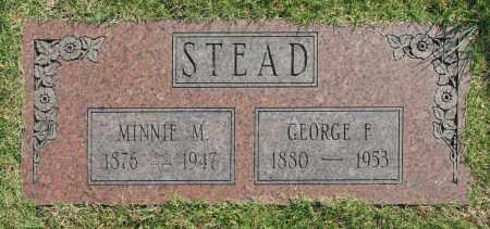 STEAD, MINNIE M. - Washington County, Oklahoma   MINNIE M. STEAD - Oklahoma Gravestone Photos