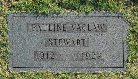 STEWART, PAULINE VACLAW - Washington County, Oklahoma | PAULINE VACLAW STEWART - Oklahoma Gravestone Photos
