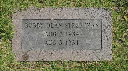 STREETMAN, BOBBY DEAN - Washington County, Oklahoma | BOBBY DEAN STREETMAN - Oklahoma Gravestone Photos