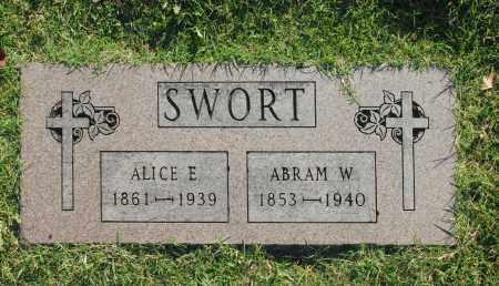 SWORT, ALICE E. - Washington County, Oklahoma   ALICE E. SWORT - Oklahoma Gravestone Photos