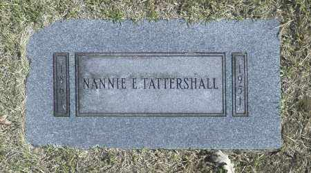 TATTERSHALL, NANNIE E - Washington County, Oklahoma   NANNIE E TATTERSHALL - Oklahoma Gravestone Photos