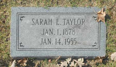 TAYLOR, SARAH E - Washington County, Oklahoma   SARAH E TAYLOR - Oklahoma Gravestone Photos