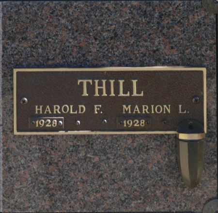 THILL, HAROLD F - Washington County, Oklahoma   HAROLD F THILL - Oklahoma Gravestone Photos