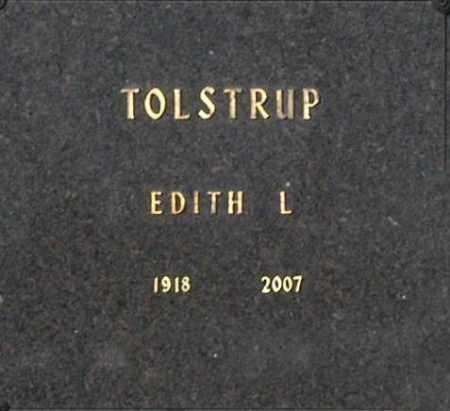 TOLSTRUP, EDITH L - Washington County, Oklahoma   EDITH L TOLSTRUP - Oklahoma Gravestone Photos