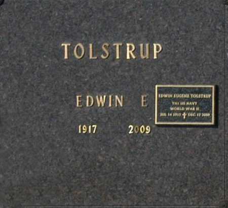 TOLSTRUP, EDWIN E - Washington County, Oklahoma | EDWIN E TOLSTRUP - Oklahoma Gravestone Photos