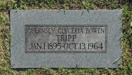 BOWEN TRIPP, GUERNSEY GLYCERIA - Washington County, Oklahoma   GUERNSEY GLYCERIA BOWEN TRIPP - Oklahoma Gravestone Photos