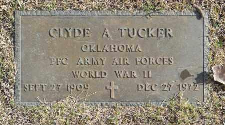 TUCKER (VETERAN WWII), CLYDE A - Washington County, Oklahoma   CLYDE A TUCKER (VETERAN WWII) - Oklahoma Gravestone Photos
