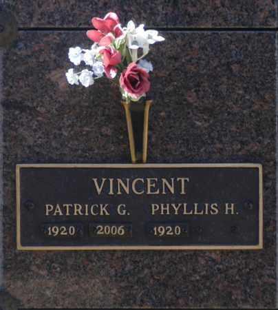VINCENT, PHYLLIS H - Washington County, Oklahoma   PHYLLIS H VINCENT - Oklahoma Gravestone Photos
