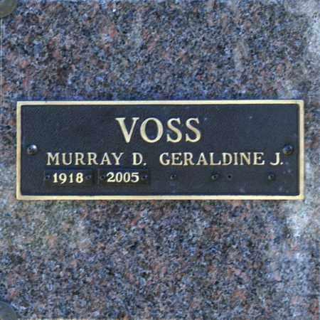 VOSS, MURRAY D - Washington County, Oklahoma | MURRAY D VOSS - Oklahoma Gravestone Photos